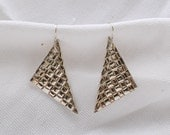 Triangular Fine Silver Ea...