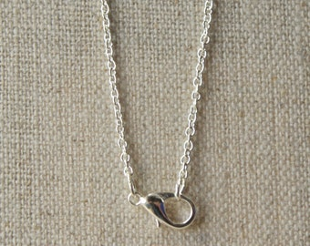 silver plated chain necklace, choose 14 inch - 36 inch, 2mm very small link, nickel free chain,  SF81
