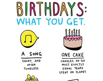 Birthday Card - Birthdays: What You Get