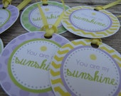Sunshine Baby Shower Decorations, Baby Shower Decorations, Baby Shower Décor, Sunshine Baby Shower FAVOR TAG, You Choose The Colors