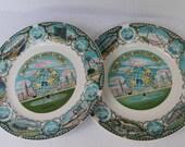 "2 New York Worlds Fair Plates 1964-1965 Collectible Souvenirs 8"""