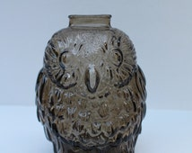 Popular items for wise old owl bank on etsy - Wise old owl glass bank ...