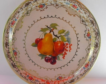 VintageRound Tin Fruit Tray Daher Holland