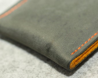 Galaxy S8, Galaxy S8+ Leather Sleeve  - CONCRETE, Organic Leather