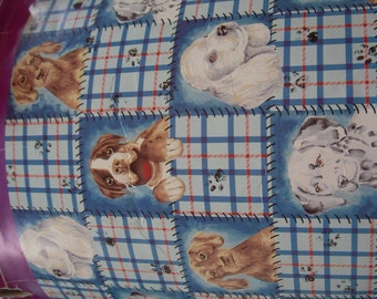 Dog Faces No-Sew Fleece Blanket Kit