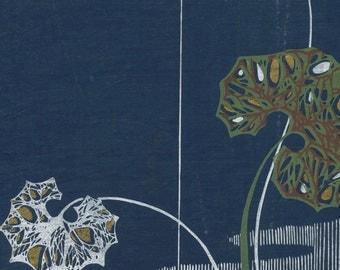 Antique Taisho-Showa Period Japanese Silkscreen Kimono Design - 34