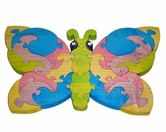 Cute Butterfly -  Handcrafted Wooden Jigsaw Puzzle