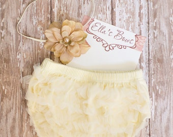 Baby and Toddler Flower headband and Diaper cover... Bloomer set.....Hair bow and Diaper Cover...custom sizes available
