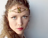Forest Fairy Queen Circlet in Bronze and Amber