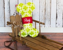 PERSONALIZED DOG STOCKING - Dog Christmas Stocking - Embroidered With Your Pet's Name - Choose Your Fabric - Cat Christmas Stockings Too!