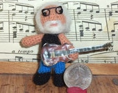 Jerry Garcia Miniature Grateful Dead Thread Artist Crochet Doll  Ready to Ship