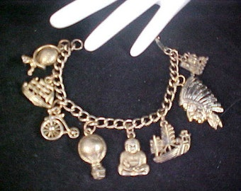 Multiple Gold Plate CHARMS ~ Gold Plate Charm Bracelet
