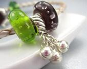 Silver Bells Charm European Bracelet Sterling Silver Musical Dangle Bead Christmas Jingle Bells