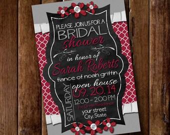Bridal Shower Invitation, Bridal Shower Invite, Bridal Shower Invitation Printable, Wedding Shower, Invitation, Wedding Shower Invites, 4x6