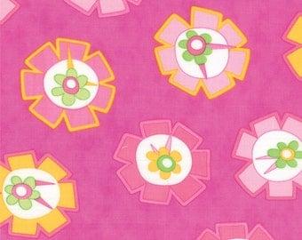 Pink Medium Flower Hubba Hubba Fabric - Moda - Me and My Sister