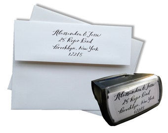 Self-Inking Custom Calligraphy Address Stamp