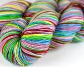 "Glitz Sock Self-Striping ""Lady"" Red, Yellow, Green, Blue, Purple"