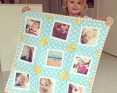 InstaWall Quilt, 2 SIZES Available, Mini Quilt, Photo Quilt, Instagram Wall, Wall Decor, CUSTOM fabrics, Granny Chic Home Decor
