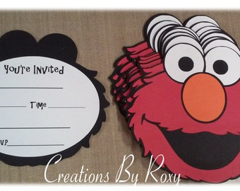 Elmo Invitations Set of 12