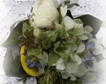 Anniversary Dried Flower Tussie Mussie Bouquet