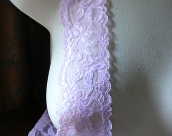 Baby Pink Stretch Lace  for Headbands, Garters, Lingerie  STR 1104bp