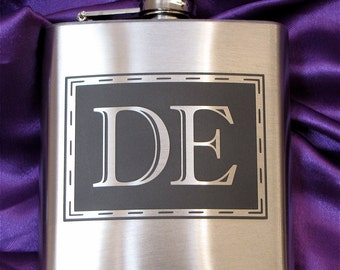 Hip Flask, Monogrammed Liqour Flask,  Personalized Gift for Best Man