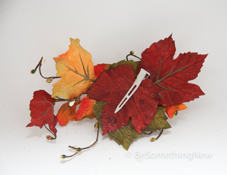 Big Fall Leaves Hair Comb Fall Wedding Headpiece By