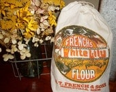 Feed Sack, feed bag, flour sack, grain sack, seed sack, lily flour, Country decor,vintage, food bag, Middleville Michigan, FeedSackLady