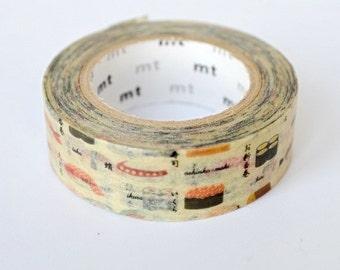 extremely rare - mt limited edition washi masking tape - atari - gacha - sushi -