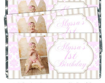 RESERVED - First Birthday Candy Wrappers - PRIORITY SHIPPING
