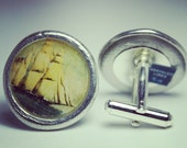 Clipper Ship Pewter Cufflinks