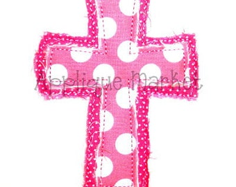 Machine Embroidery Design Applique Raggy Cross INSTANT DOWNLOAD