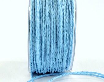 Turquoise (Aqua) Paper Cord Ribbon . 10 yards