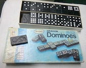 Vintage Wooden Dragon Dominoes 54 Pieces
