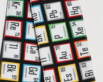 DSLR Camera Strap Cover with lens cap pocket and padding included - Periodic Table