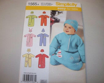 New Simplicity Baby Clothes Pattern, 1565 (Free US Shipping)