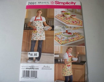 New Simplicity Kitchen Accessories Pattern 2691  (Free US Shipping)