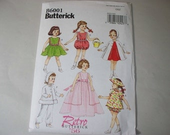 """New Butterick Retro 18"""" Doll Clothes Pattern, B6001 (Free US Shipping)"""