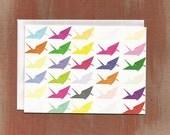 Rainbow Origami Cranes Boxed Notes (8/box)