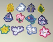 Easter Lace Charms - set of 12