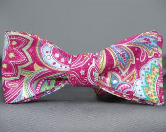 Freshly Dipped Paisley Berry  Bow Tie