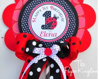 Ladybug Centerpiece,  Luxurious XL Birthday Centerpiece, Ladybug Birthday Party