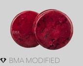 2g (6mm) Radish Red Stone Plugs