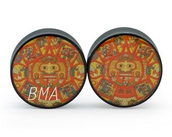 "1 & 5/16"" Mayan Calendar Plugs (34mm)"