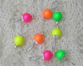 Knitting Stitch Markers - Neon Pearls as seen in Vogue Knitting - snag free - 8mm Swarovski pearls - set of 8 - medium or large loops