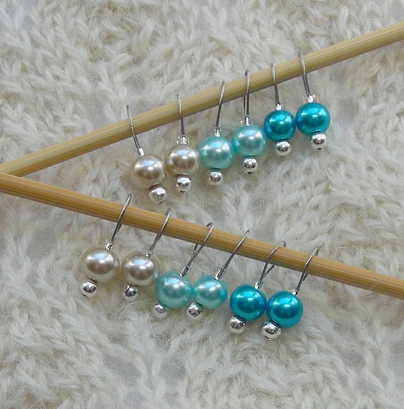 Knitting Stitch Markers for socks and lace Tiny Simple Beach