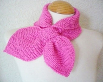 Ascot Bow Scarf in Candy Pink