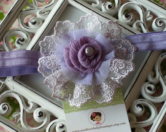 NEW ITEM---Boutique Baby Girl Toddler Flower Headband-----Lily-----Photo Prop