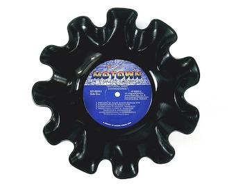 Commodores Vinyl Record Bowl Vintage LP Album 1978 (Natural High) Blue Motown Label