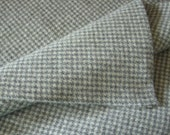 Wool Fabric Gray Houndstooth, One Quarter Yard of Felted Wool Flannel